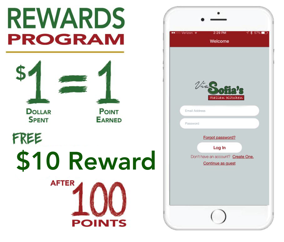 Via Sofia's - Rewards Program