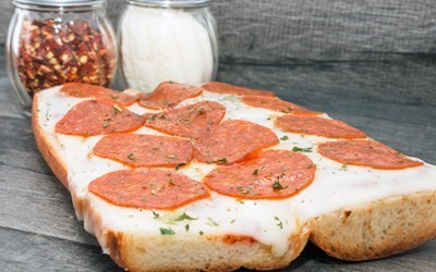 Pepperoni Sandwich - Open Faced